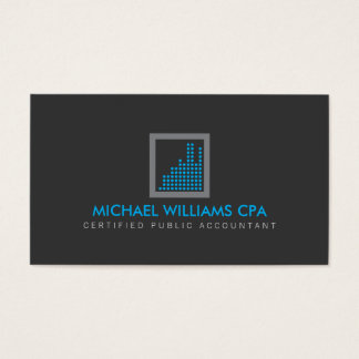 Modern Accountant, Financial Logo in Blue/Gray Business Card