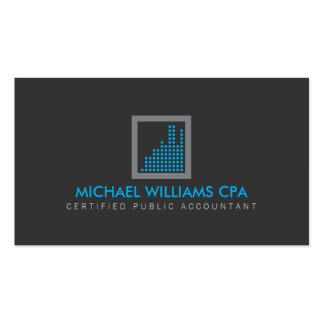 Modern Accountant, Financial Logo in Blue/Gray Pack Of Standard Business Cards