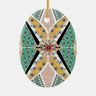 Modern Africa Centre Vibrant Pattern Christmas Ornament