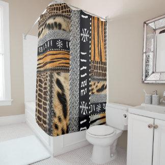 Modern African animal  fur fabric and motif Shower Curtain