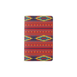 Modern African Art Gods Eye Pattern Red Yellow Pocket Moleskine Notebook