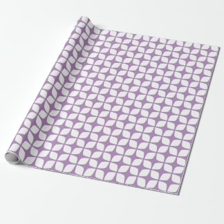Modern African Violet Geometric Wrapping Paper