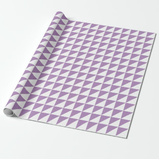 Modern African Violet Triangles Wrapping Paper