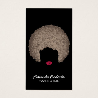 Modern Afro Style Beauty & Hair Stylist Business Card