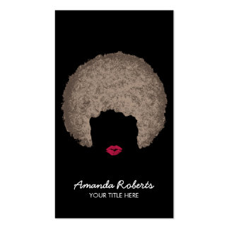 Modern Afro Style Beauty & Hair Stylist Pack Of Standard Business Cards
