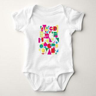 Modern Alphabet Baby Bodysuit