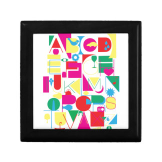 Modern Alphabet Small Square Gift Box