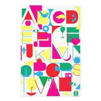 Modern Alphabet Stationery