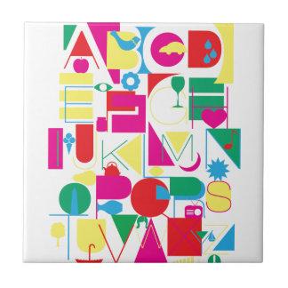 Modern Alphabet Tile