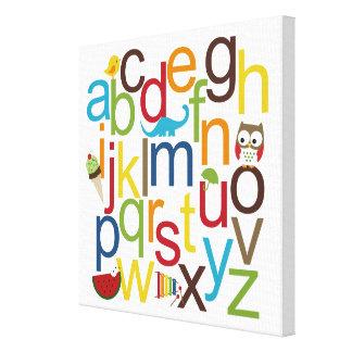 Modern Alphabets Kid Wall Art Gallery Wrap Canvas