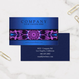 modern Amethyst Desire mandala blue Business Card
