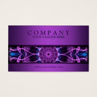 modern Amethyst Desire mandala purple Business Card