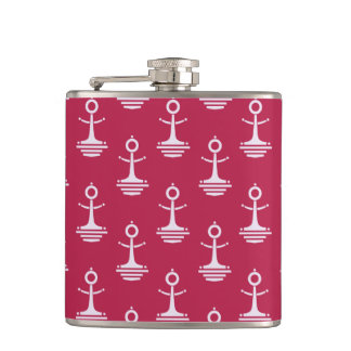 Modern Anchors Pattern Flask