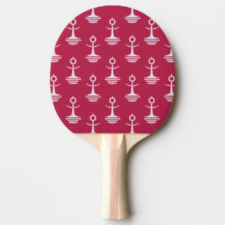 Modern Anchors Pattern Ping Pong Paddle