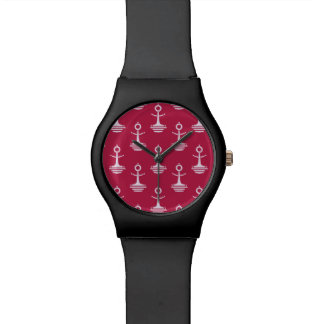 Modern Anchors Pattern Watch