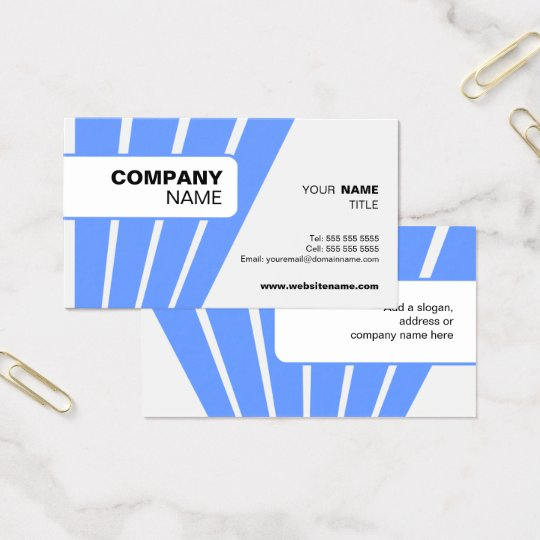 Modern and Bold Blue Business Card