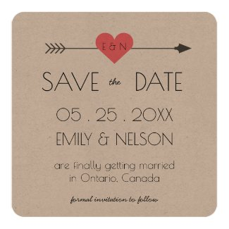 Modern and Chic Arrow and Heart | Save the Date