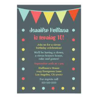 Modern and Chic Circus Invitation