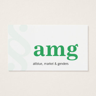 Modern and Clear with green Business Card