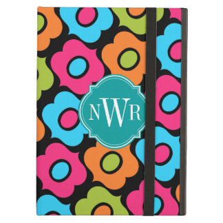 Modern and Colorful Pattern Monogram Case For iPad Air