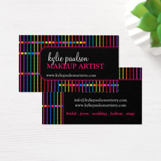 Modern and Colourful Makeup Artist Business Card