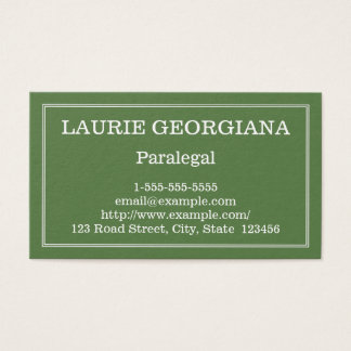 Modern and Customizable Paralegal Business Card