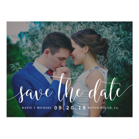 Modern and Elegant Save the Date Postcard