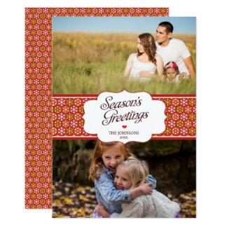 Modern and Elegant Season's Greetings 2-photo Card