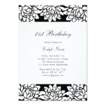 Modern and Floral 21st Birthday Party Invitation