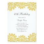 Modern and Floral Birthday Party Invitation