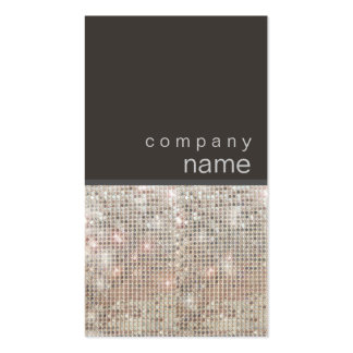 Modern and Hip FAUX Sequin Entertainer Pack Of Standard Business Cards