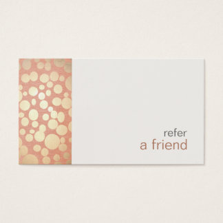 Modern and Hip Gold  Refer A Friend Coupon Salon