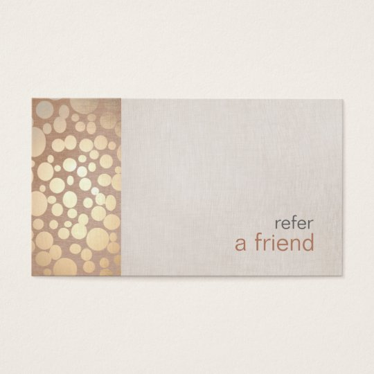 Modern and Hip Gold Refer A Friend Coupon