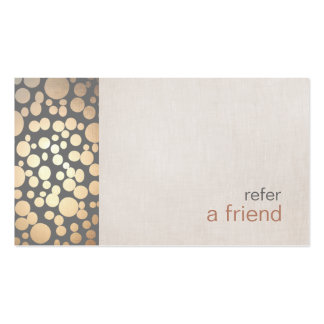 Modern and Hip Gold Refer A Friend Coupon Salon Pack Of Standard Business Cards