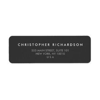 MODERN and MINIMAL Dark Gray Address Label