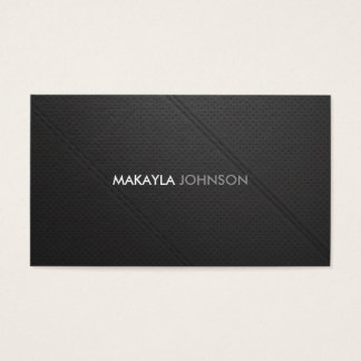 Modern and Minimal perforated leather Professional Business Card