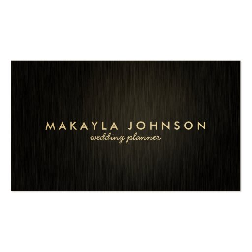 Modern and Minimal Professional Black & Gold Business Cards