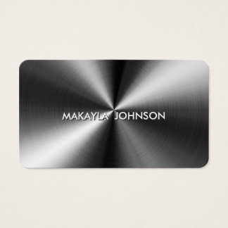 Modern and Minimal Professional Metallic Business Card