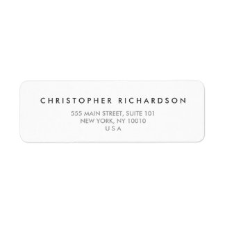 MODERN and MINIMAL White Address Label