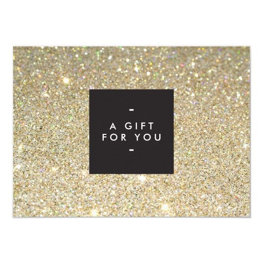 MODERN and SIMPLE BLACK BOX GOLD GLITTER Gift