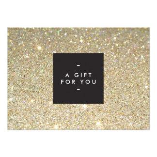 MODERN and SIMPLE BLACK BOX GOLD GLITTER Gift Cert Announcement