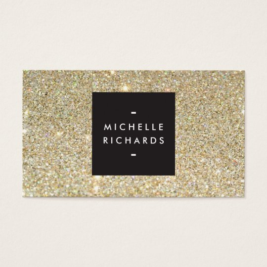 MODERN and SIMPLE BLACK BOX on GOLD GLITTER