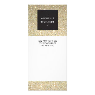 MODERN and SIMPLE BLACK BOX on GOLD GLITTER Rack Card Template