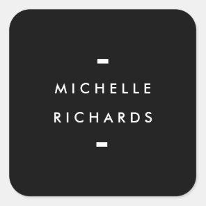MODERN and SIMPLE BLACK BOX Square Sticker