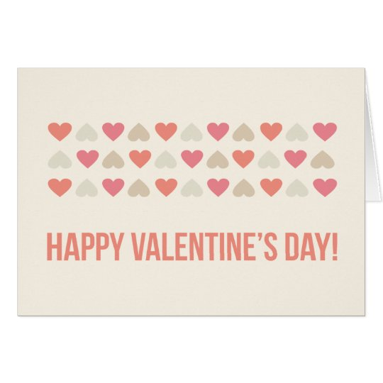 Modern and Simple Hearts Valentine Card