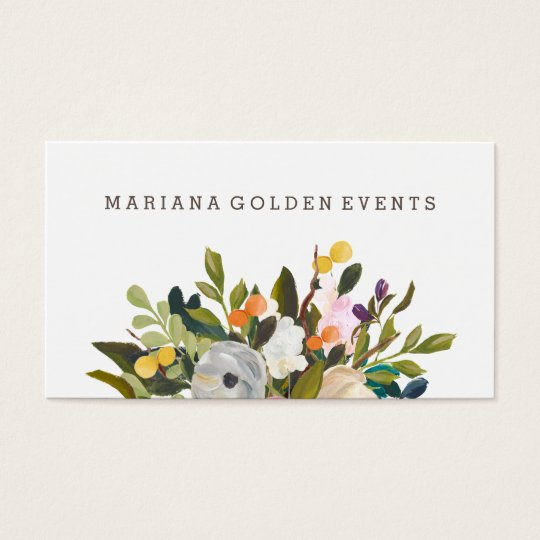 Modern and Sophisticated Floral Business Card