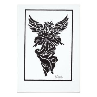Modern Angel in Frame 13 Cm X 18 Cm Invitation Card