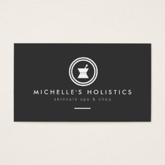 Modern Apothecary Holistic Medicine Dark Gray Business Card