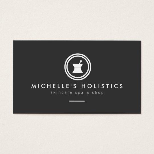 Modern Apothecary Holistic Medicine Dark Grey Business Card
