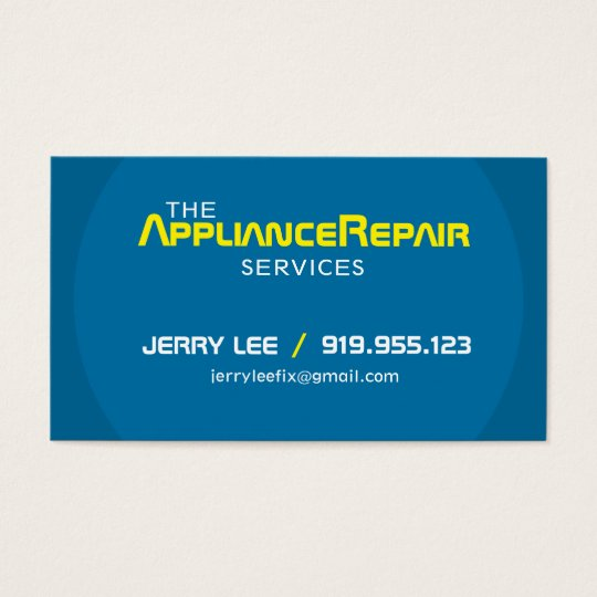 Modern Appliance Repair Business Cards Template